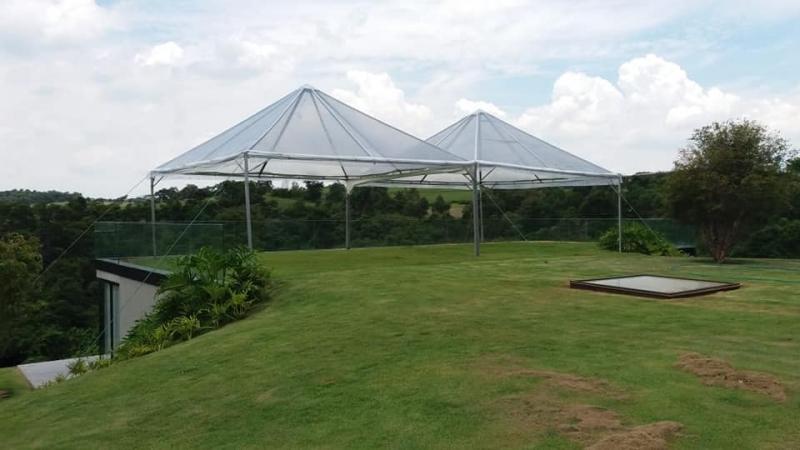 Aluguel de Tenda Pirâmides Profissional Capela do Alto - Tenda Pirâmides Transparente