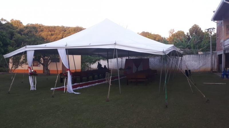 Preço de Locação de Tenda Modelo Circo 12x25 Mts Mairinque - Locação de Tenda Modelo Circo 16x38 Mts