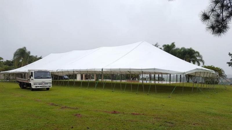 Preço de Locação de Tenda Modelo Circo Itu - Locação de Tenda Circo 12x25 Mts