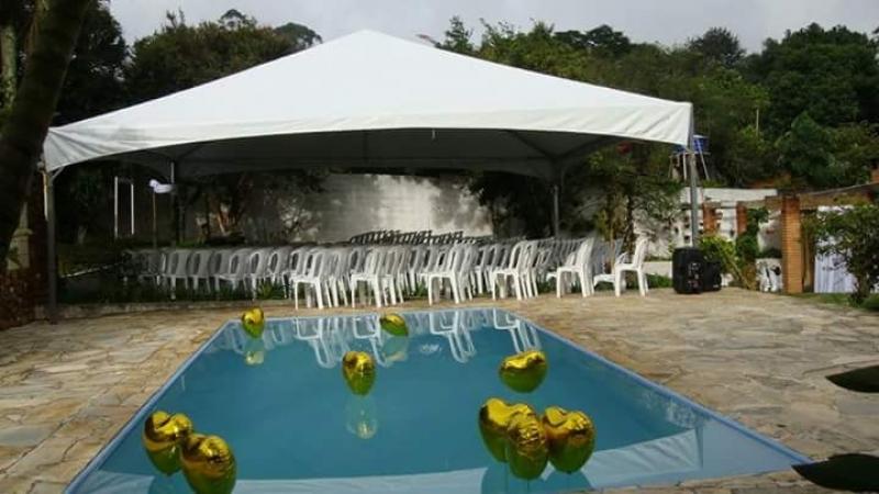 Tenda Pirâmides para Casamento Valor Cotia - Tenda Pirâmides 5x5