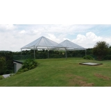 alugar tenda cristal piramidal Alumínio