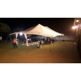 locação de tenda modelo circo 12x25 mts Capela do Alto