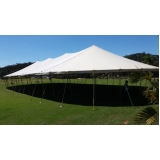 locação de tenda modelo circo 16x38 mts preço Piedade