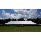 locação de tenda modelo circo 20x50 mts preço São Roque