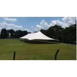 locação de tenda modelo circo 20x50 mts valor Mairinque