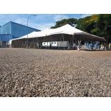 locação de tenda modelo circo14x30 mts valor Itu