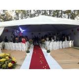 locação de tenda para casamento preço Ibiúna
