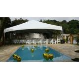 locação de tenda para casamento valor São Roque