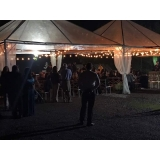 locação de tenda para festa de casamento preço Salto de Pirapora