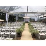locação de tenda para festa de casamento valor São Roque