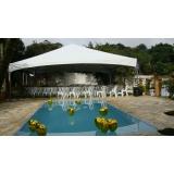 locação de tenda para festa valor Capela do Alto