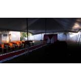 preço de locação de tenda para casamento Mairinque