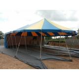 preço de locação tenda modelo circo Alumínio
